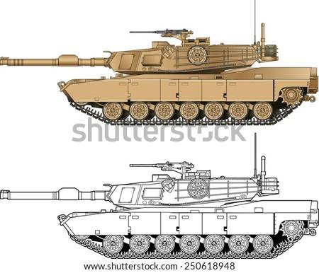 american abrams battle tank