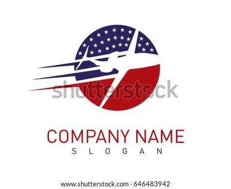 American airplane logo