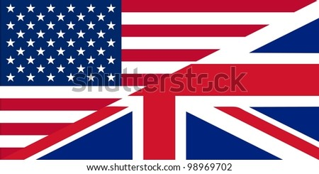 American and British English language icon useful for websites  - isolated vector illustration