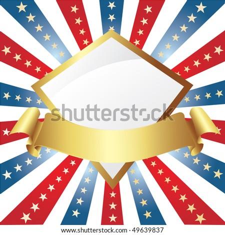 American background - stock vector