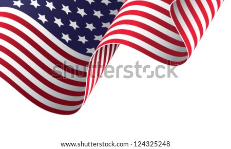 American banner vector illustration #124325248