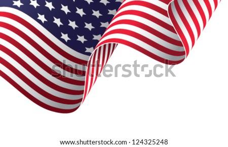 American banner vector illustration #124325248