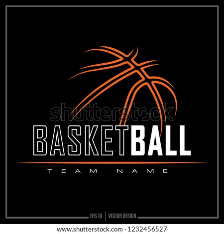 American Basketball team logo, sport design