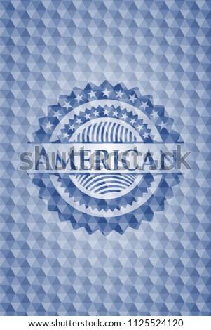 american blue emblem or badge