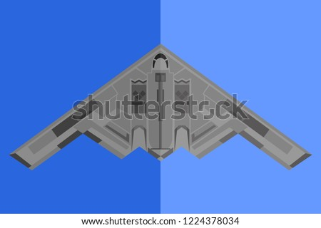 american bomber plane vector