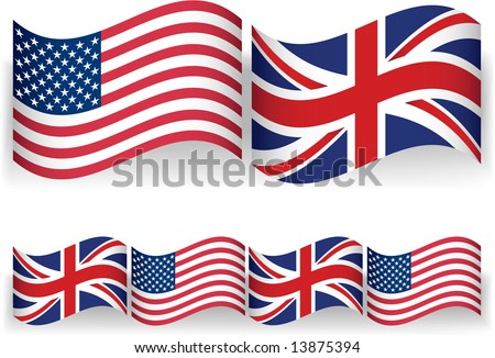 American British Flags