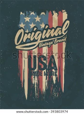 american broken flag   vintage