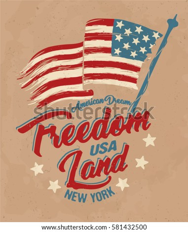 american broken flag   vintage...