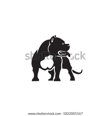 American Bully dog isolated vector illustration Stock foto ©