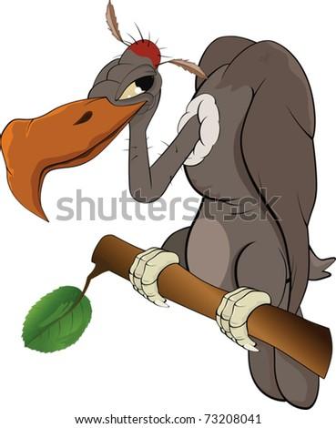 American condor an eagle.Cartoon