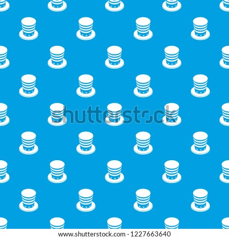 American conic hat pattern vector seamless blue repeat for any use