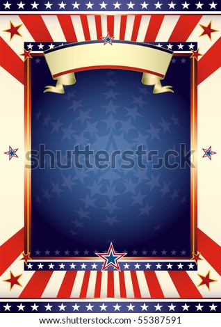 American cool flag. An american background for your advertising.