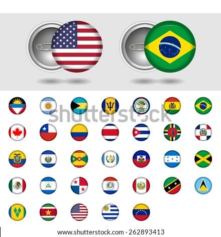 american countries  world flag