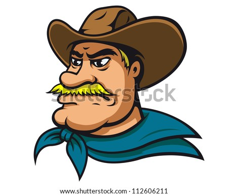 American cowboy or sheriff in cartoon style, such a mascot. Jpeg version also available in gallery