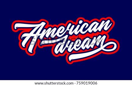 american dream hand lettering