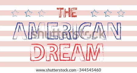 american dream hand written