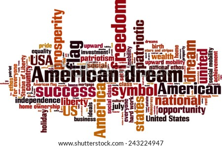 american dream word cloud