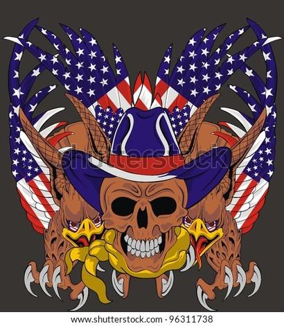 american eagle skull