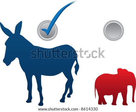 American election vector illustration - democratic win