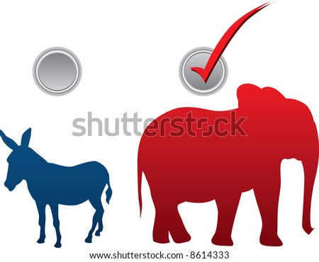 American election vector illustration - republican win