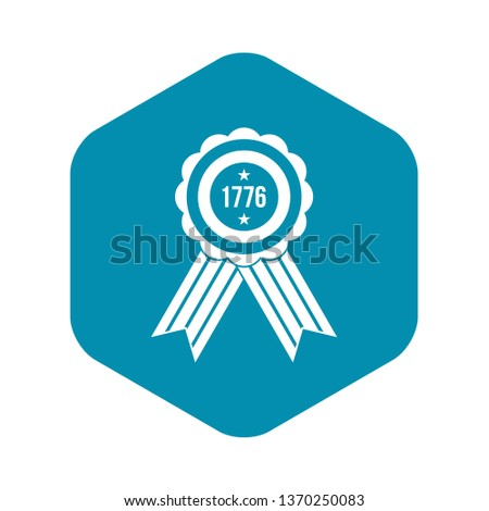 American emblem icon. Simple illustration of american emblem vector icon for web