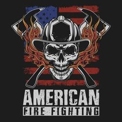 american fire fighter rescue illustration vector