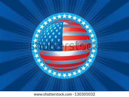 American flag. Abstract background with symbol of american flag