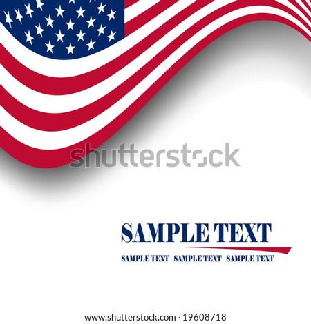 american flag background free. stock vector : American flag