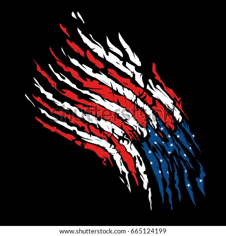 American flag background design graphic