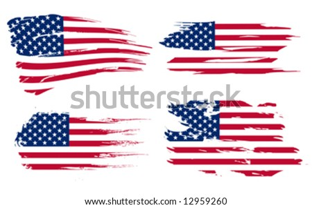 American flag background fully editable vector illustration, can be scaled to any size without quality loss