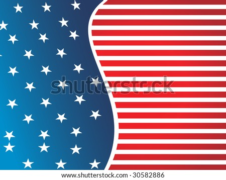 american flag background image. stock vector : american flag
