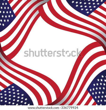 American flag background with copy space. EPS 10 vector illustration.  #336779924