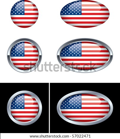 American Flag Buttons