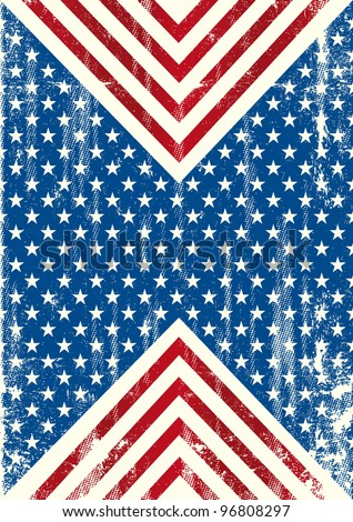 American flag distressed background. An american background with a grunge texture