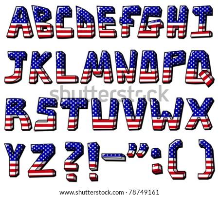 American flag font