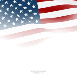 American flag for decorative.Vector background