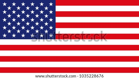 American Flag for Independence Day. United States of America national symbol. Official colors and proportion of flag of USA. Vector illustration