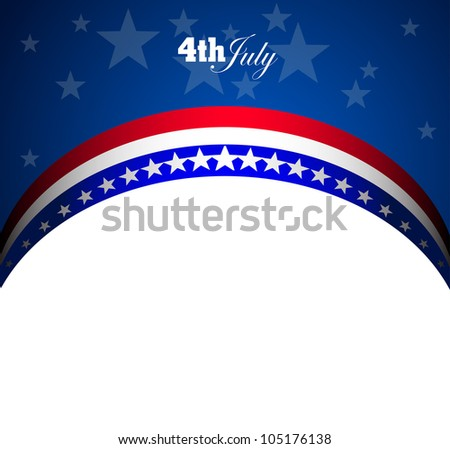 American Flag for Independence Day, vector background