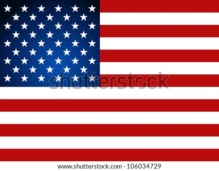 American Flag for Independence Day Vector illustration.