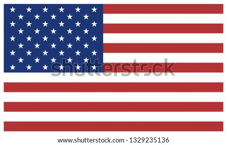 American flag. Icon. Print .Vector #1329235136