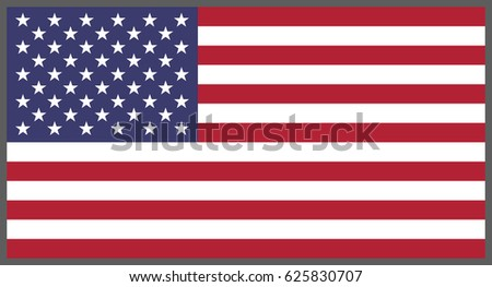 American flag, National flag of United States of America #625830707