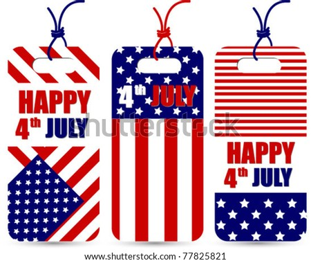 american flag pattern sale labels.tags. vector