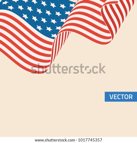 American flag symbol in retro colors.  #1017745357