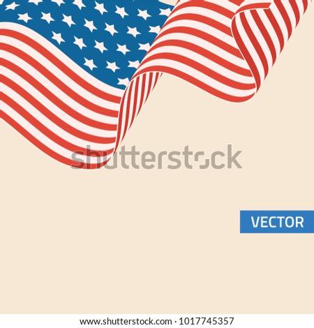 American flag symbol in retro colors.  #1017745357