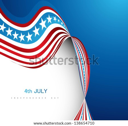 American Flag 4th july american independence day wave vector background