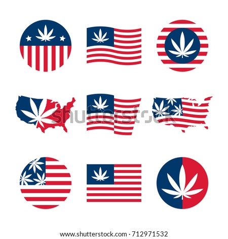 american flag  usa map and