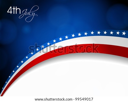 American Flag Vector background for Independence Day and other events Illustration in EPS 10.