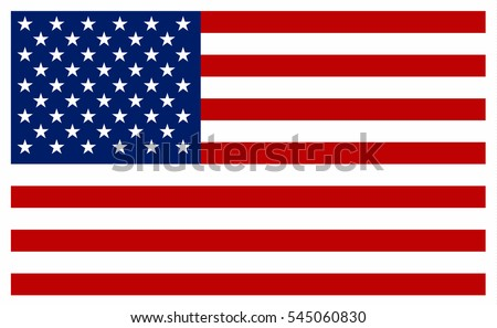 American flag vector icon. #545060830