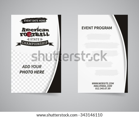 sports flyer design invitation card template download free vector
