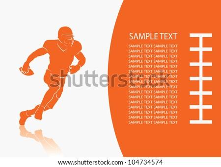 American football background - vector illustration
